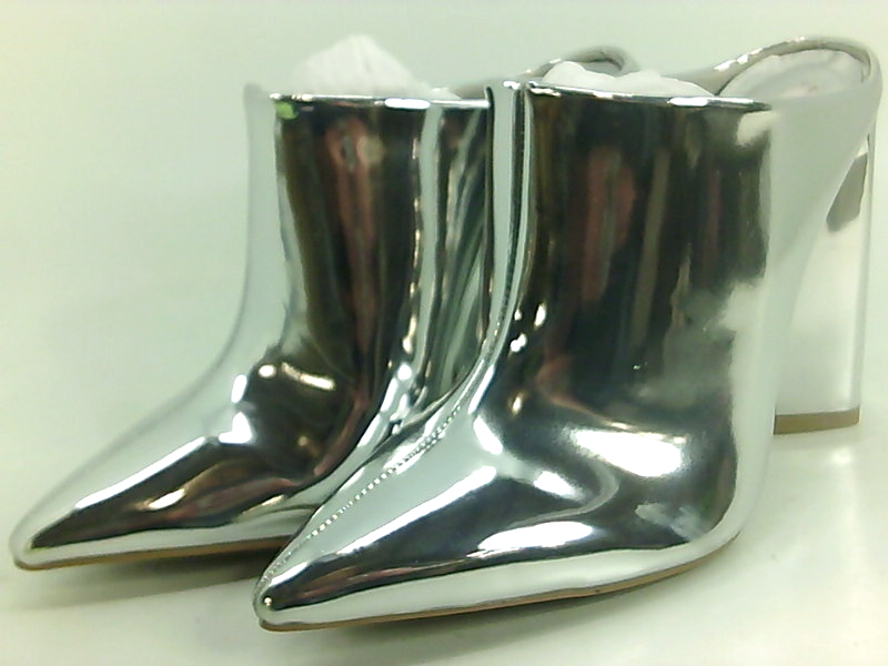 9d1234aef191a Qupid Womens Miss-40 Pointed Toe Mules, Silver, Size 6.0 P0gd