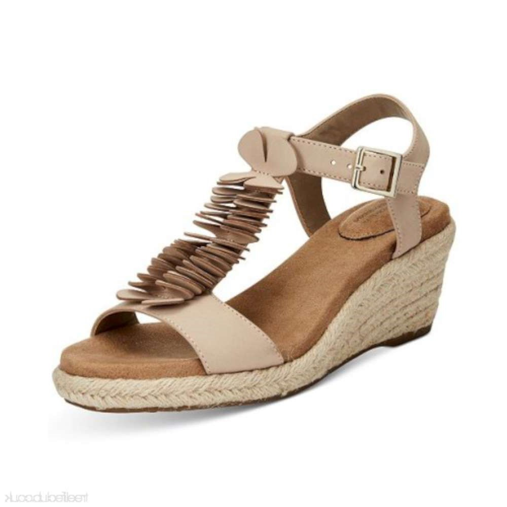 Details about  /Giani Bernini Womens Sallee Leather Open Toe Casual T-Strap Sandals