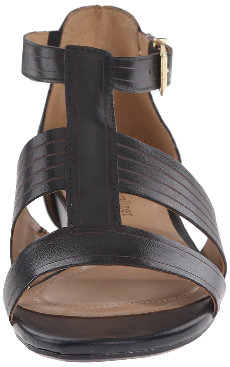 6565d0dab0bc Naturalizer Womens Longing Leather Open Toe Casual T-Strap Sandals