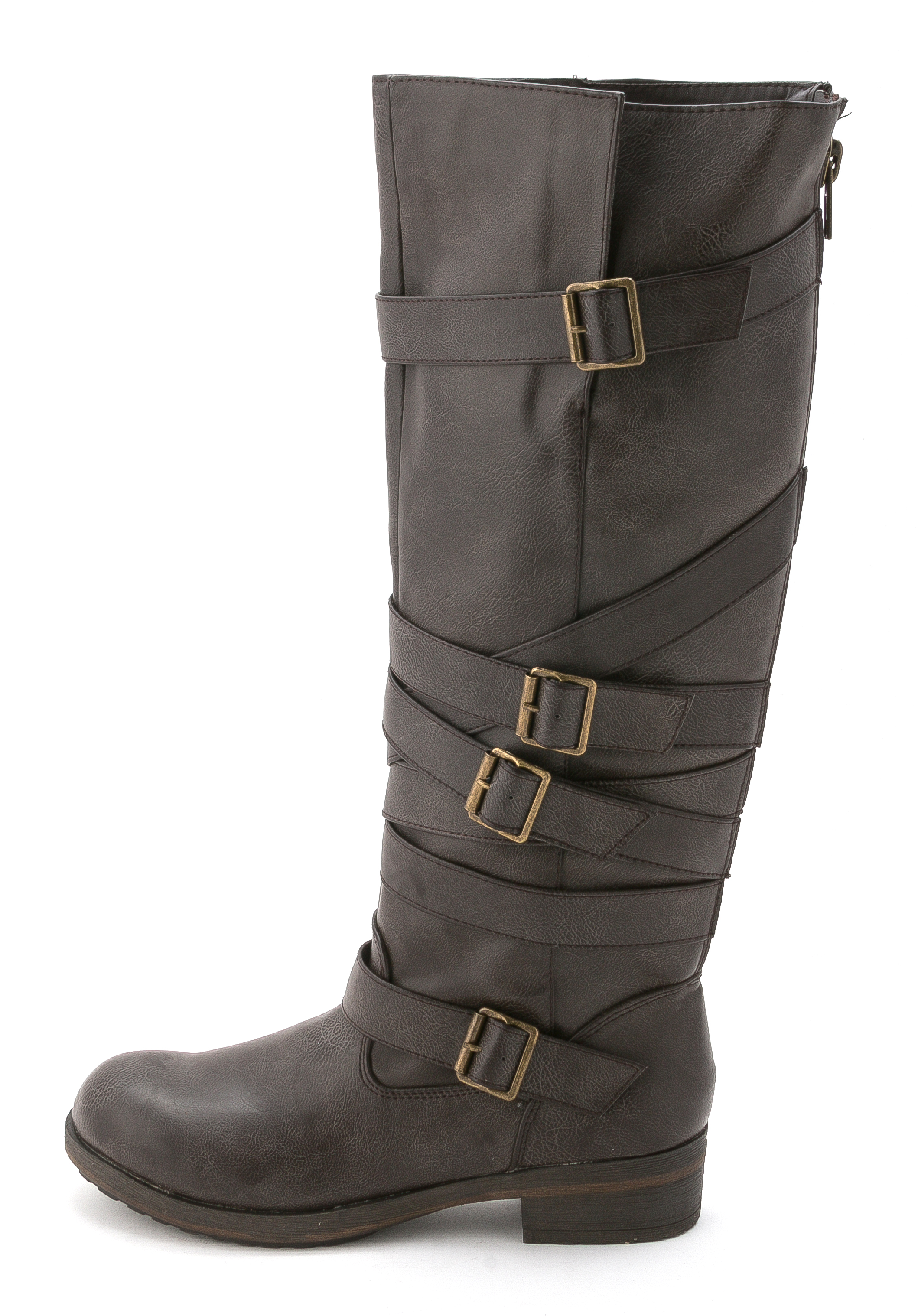 madden lilith wide calf knee high boot brown