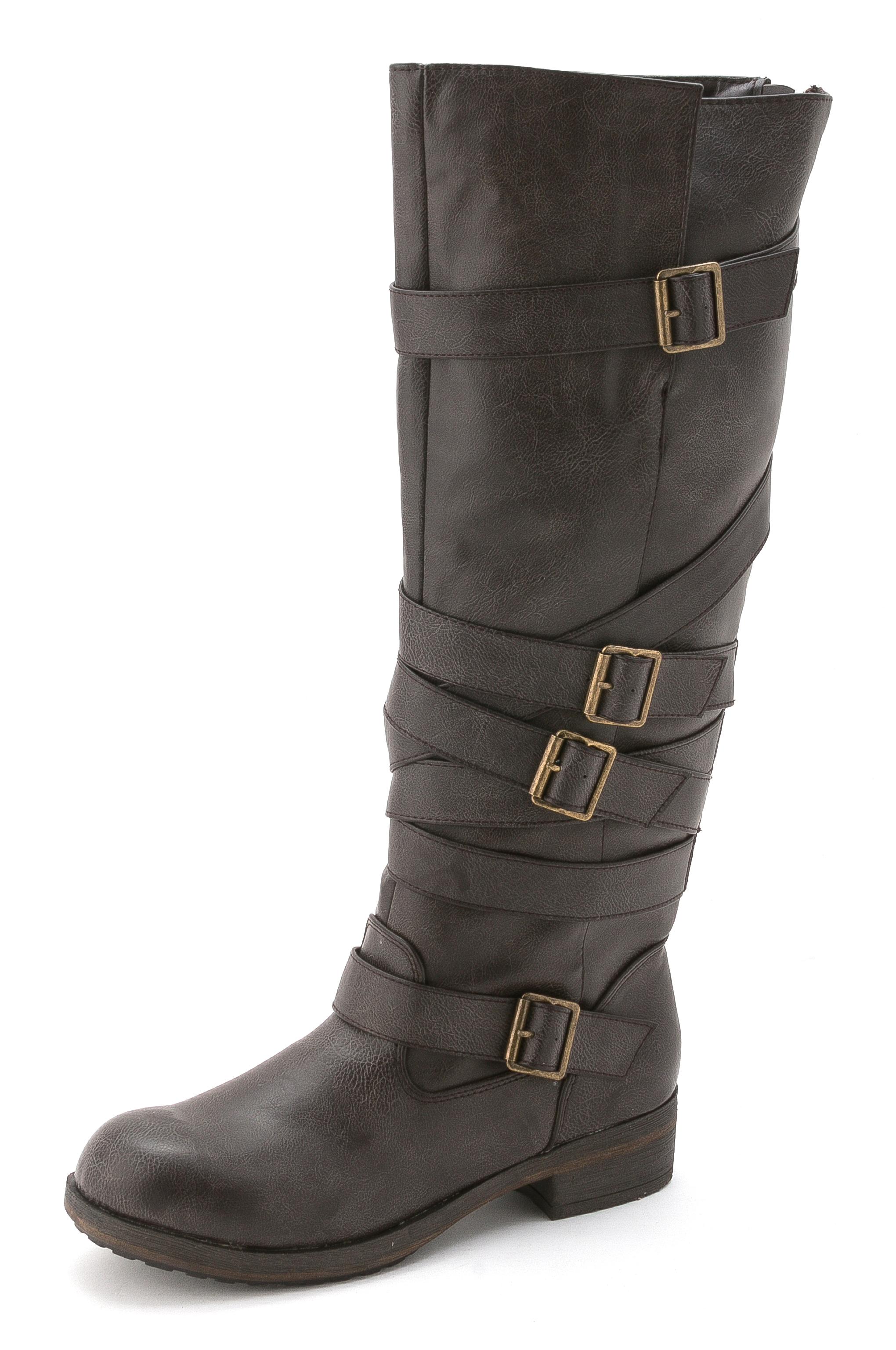 Madden Girl Women S Cactuss Boots: Madden Girl Women Lilith Wide Calf Knee High Boot, Brown