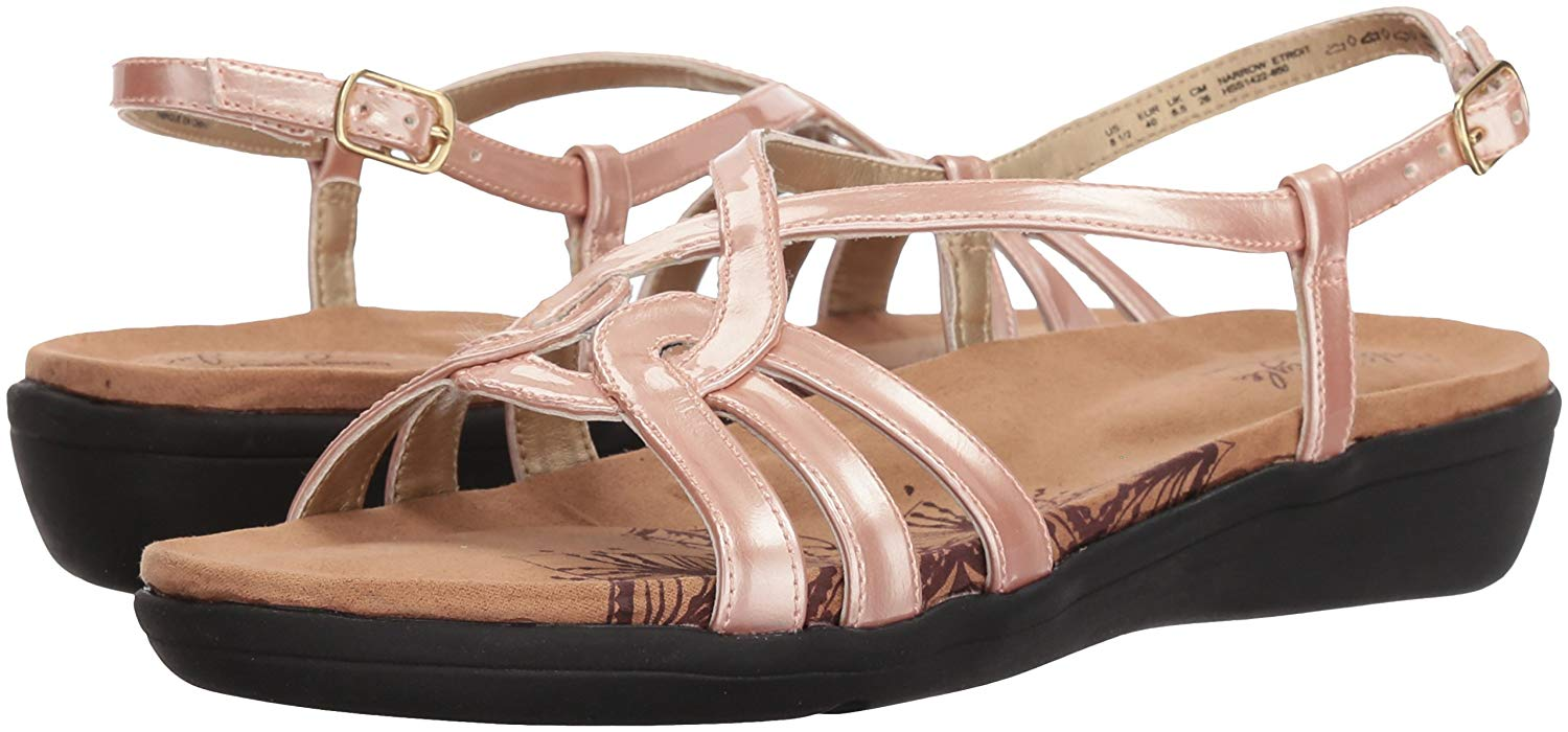 171e627e0ae0 Soft Style by Hush Puppies Soft Style Womens Patrese Fabric Open Toe Casual Strappy  Sandals