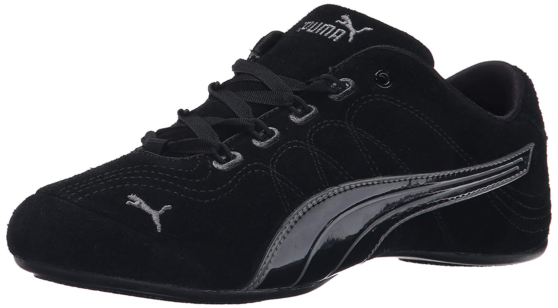 brand new e12c0 485cc PUMA Women's Soleil V2 Suede Patent Sneaker