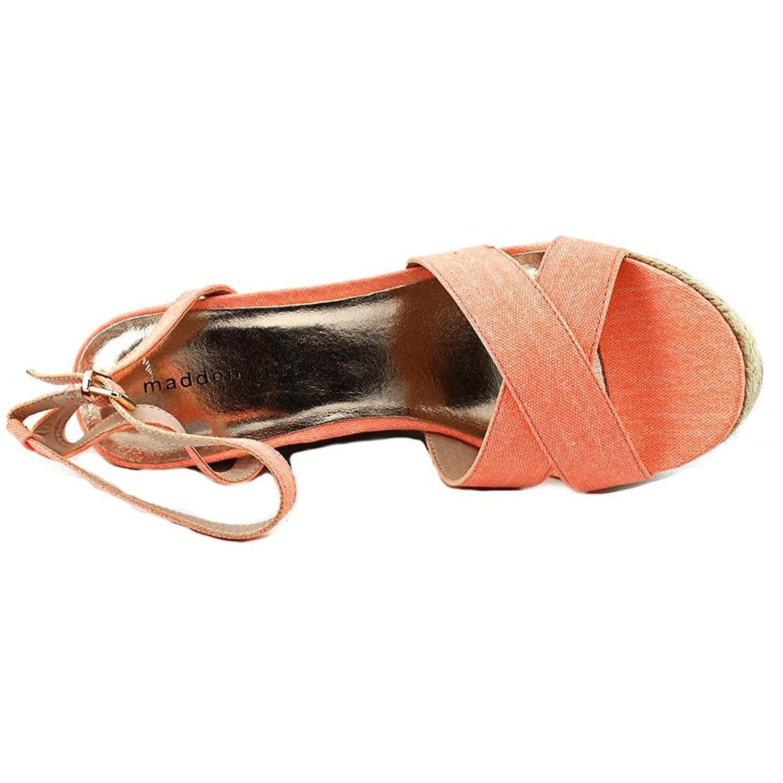 802838eafb9 Steve Madden Steve Madden Madden Girl Womens Viicki Canvas Open Toe Casual  Platform Sandals 4