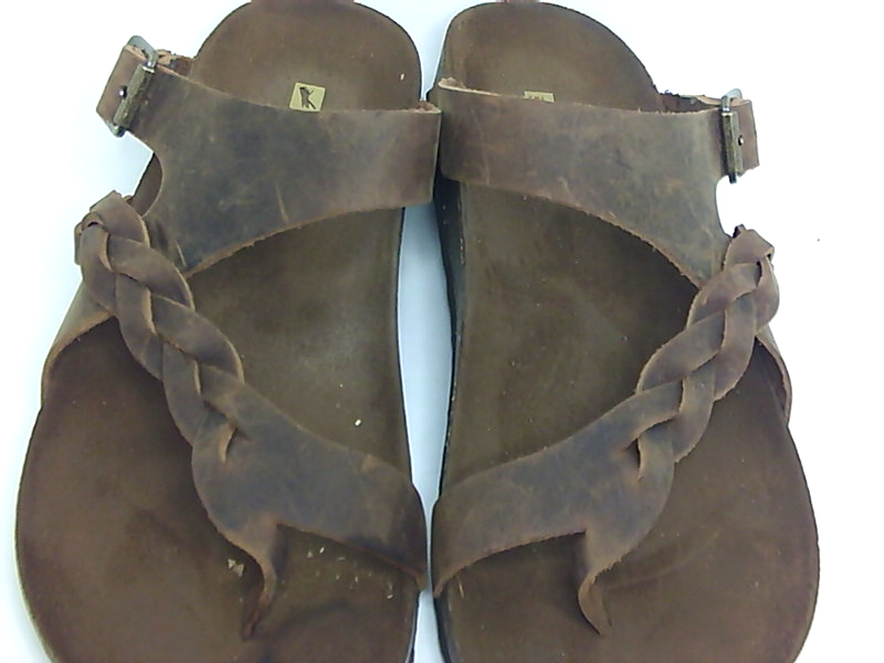 748f47514a6 White Mountain hamilton Womens Flat Sandals Brown leather 10 US   8 ...