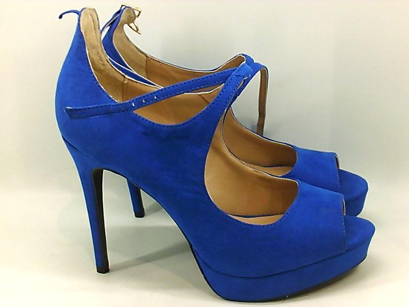 Thalia Sodi Womens Chelsie Fabric Peep Toe Ankle Strap