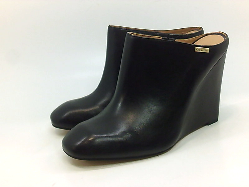 Calvin Uk 7 Womens 9 Klein Heels Parie Calf Pumps Polished Us Nero pwSrpq