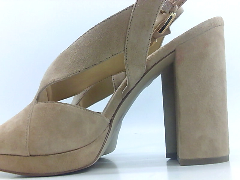 802616ac00cf Michael Kors Becky Platform Womens Heeled Sandals Sand 9 US   7 UK ...