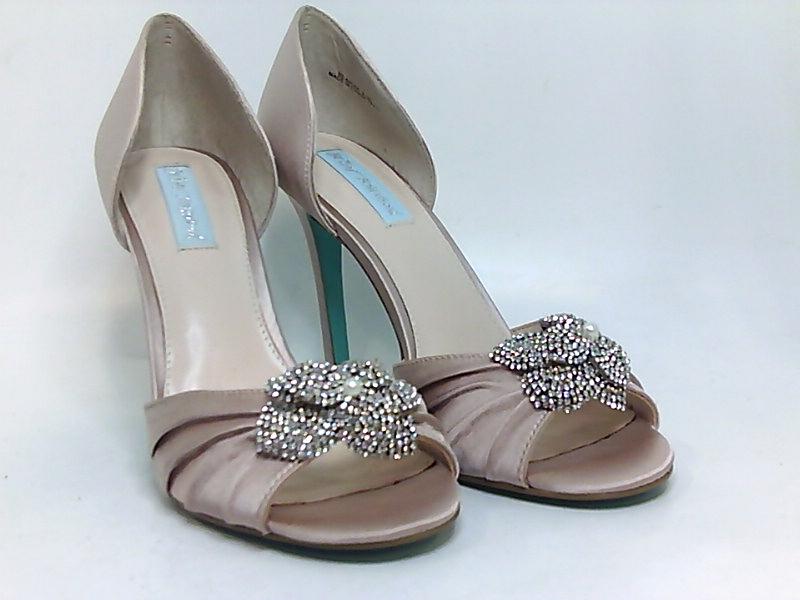 Betsey Johnson Womens briar Fabric Peep Toe Ankle Strap