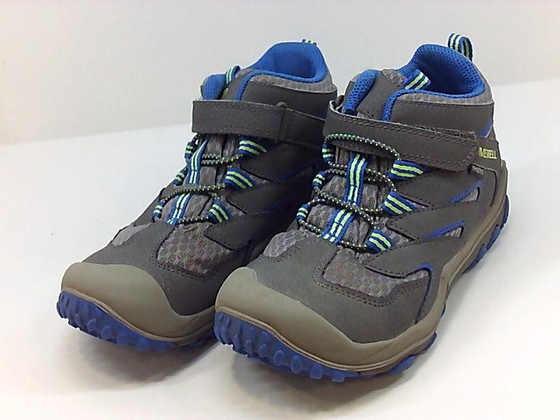 de81b5f818f Details about Merrell Kids' Chameleon 7 Access Mid a/C WTRPF Hiking Shoe,  Grey/Blue, Size 2.0