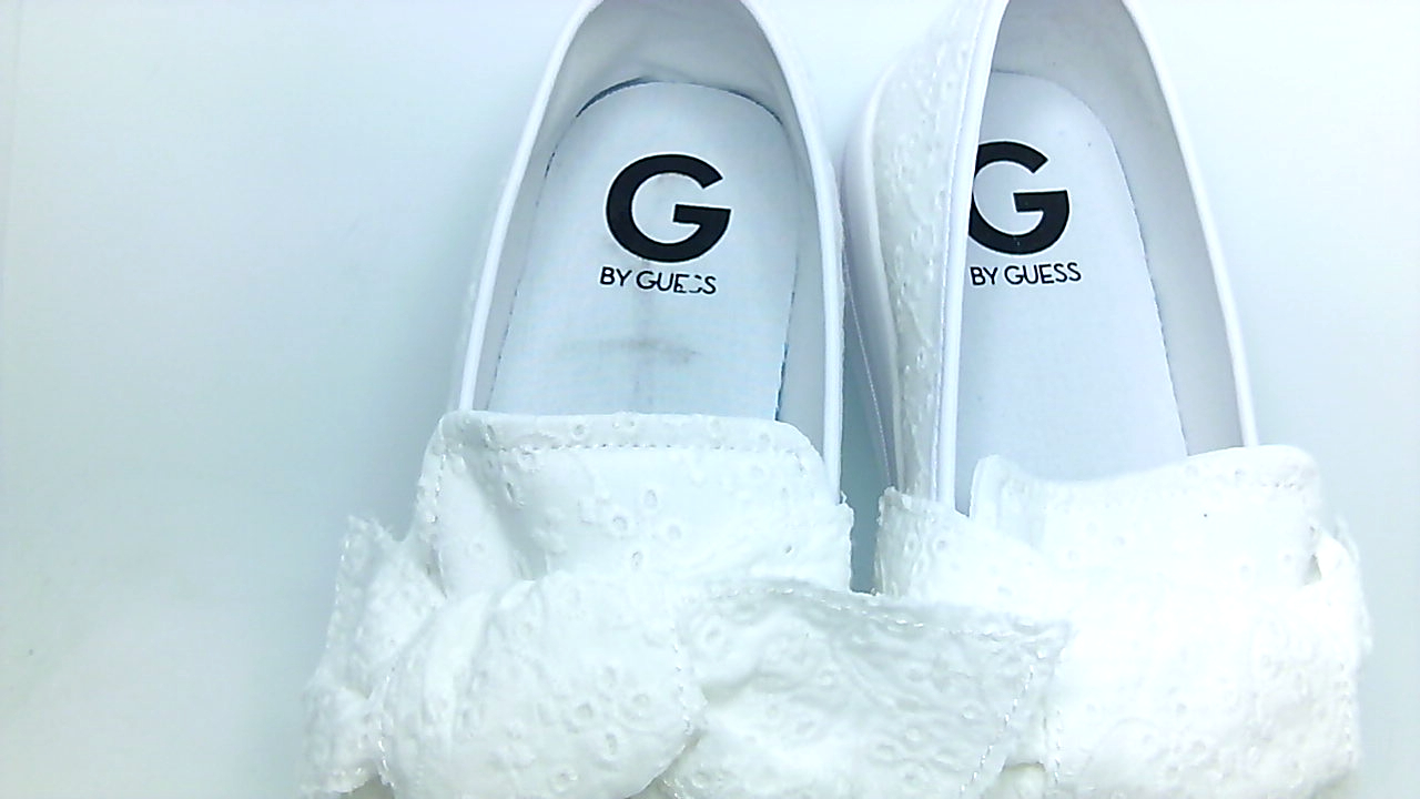 G by Low Guess Womens Chippy Fabric Low by Top Slip On Fashion White Size 11.0 drtP 0fe682