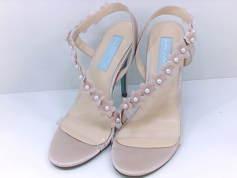 Betsey Johnson Blue Sb-baha Heeled Sandal in Black Suede
