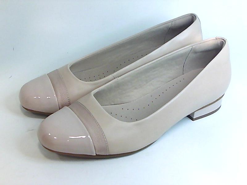 Clarks 26142524 Women/'s Juliet Monte Blush Leather//Patent Loafer