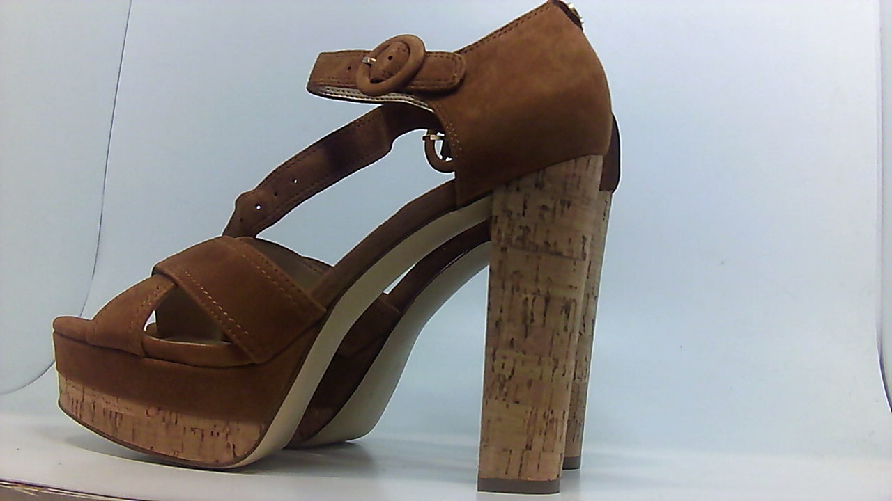 GUESS Womens peri Suede Open Toe Casual Ankle Strap Sandals Black Size 11.0 K3