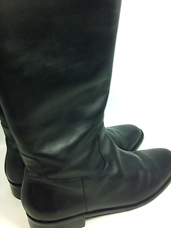 6f25a06cd0b Details about Walking Cradles Womens Elite Leather Round Toe Knee High,  Black, Size 9.5 Rpfz