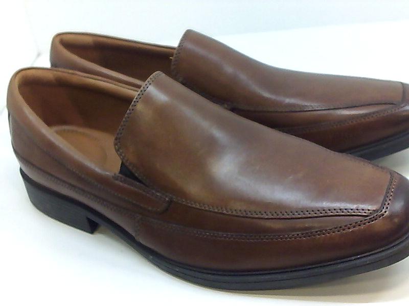 CLARKS Mens Tilden free Leather Square Toe Penny Loafer ...