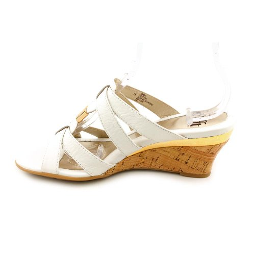 Sofft Womens Pestora Leather Open Toe Casual Platform Sandals White Size 95