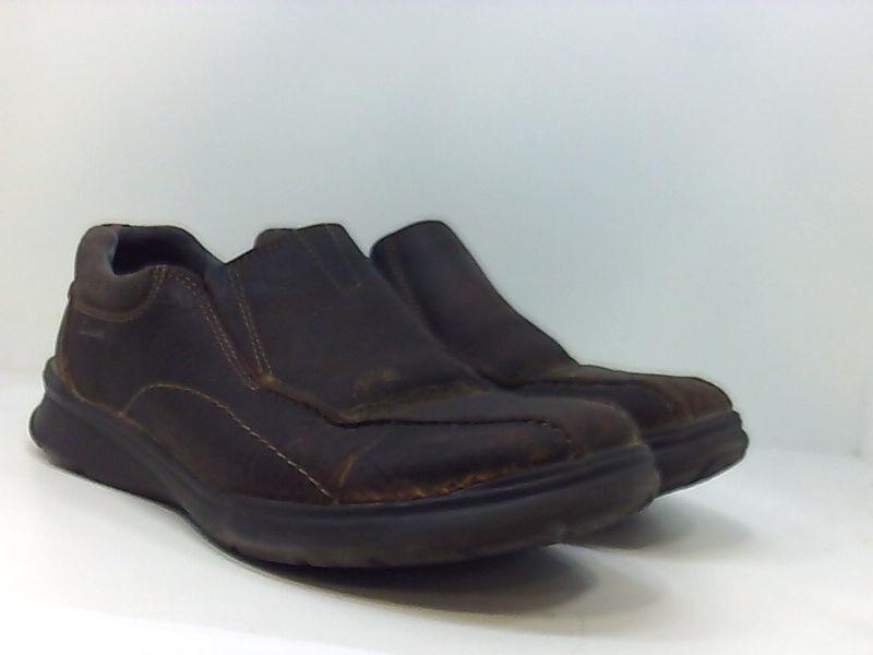 Clarks-Homme-Cotrell-etape-en-cuir-a-lacets-Casual-Derbies-Marron-Huileux-taille-13-0-S miniature 5