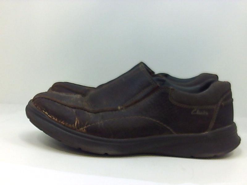 Clarks-Homme-Cotrell-etape-en-cuir-a-lacets-Casual-Derbies-Marron-Huileux-taille-13-0-S miniature 6