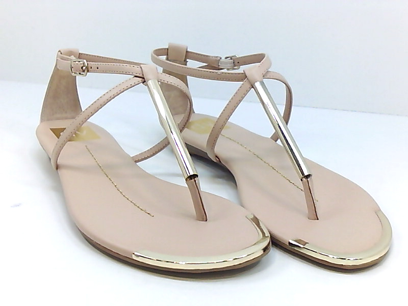 DV by Dolce Vita Womens Archer Nude Stella T-Strap Sandals