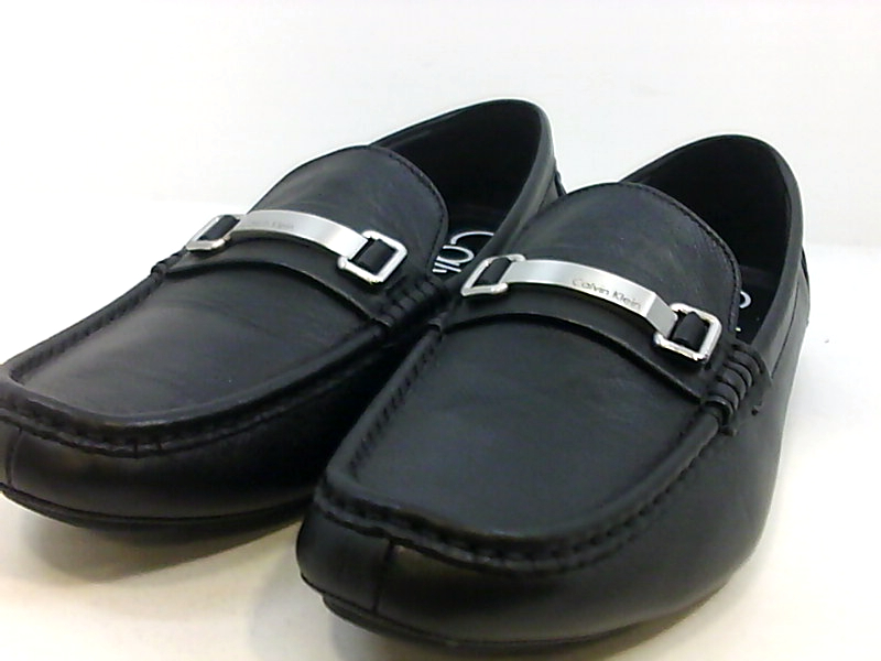 Calvin Klein Mens F0361 Leather Closed Toe Penny Loafer ...