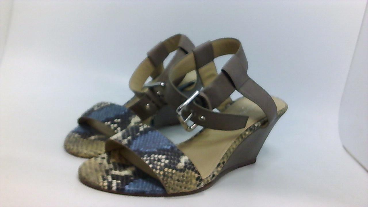 Donald J Pliner Paras Damenschuhe Platform Sandales Multi Snake Print/soft Vachetta 10