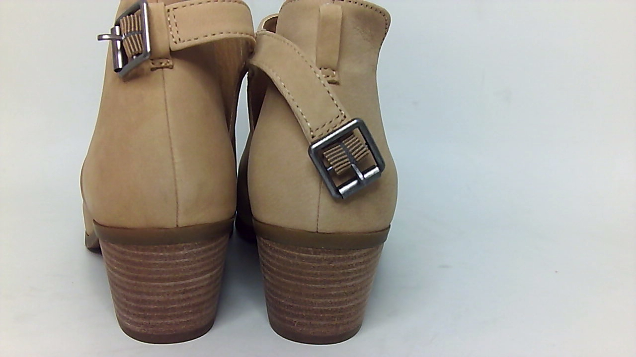 5b6ba5f20685 LUCKY BRAND WOMENS barimo Leather Peep Toe Ankle Fashion Boots ...
