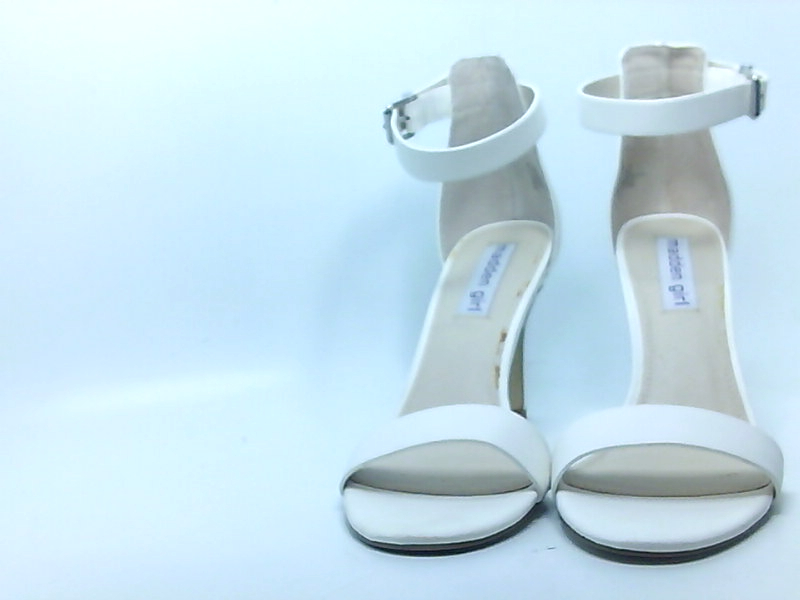 6ac1dc65928 Details about Madden Girl Womens BAY Open Toe Casual Ankle Strap Sandals,  BAY WHITE, Size 10.0