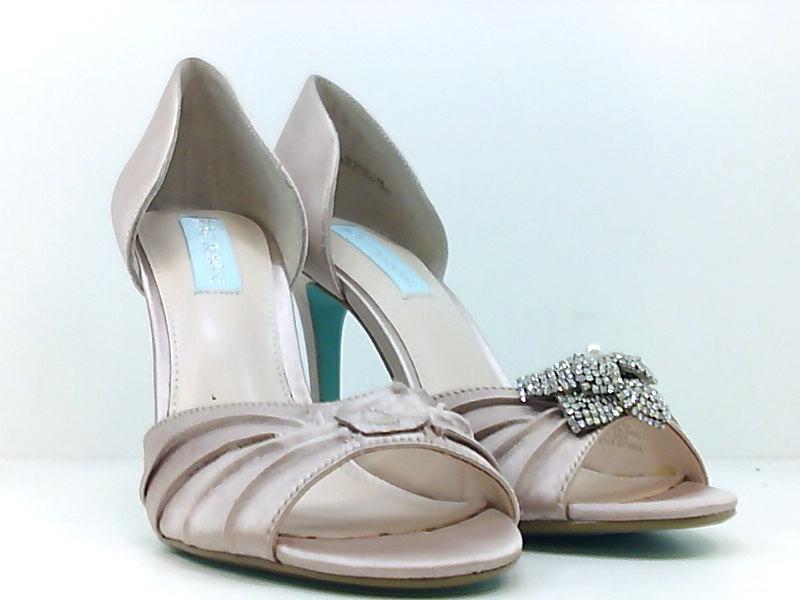 Betsey Johnson Womens briar Fabric Peep Toe Ankle, Silver