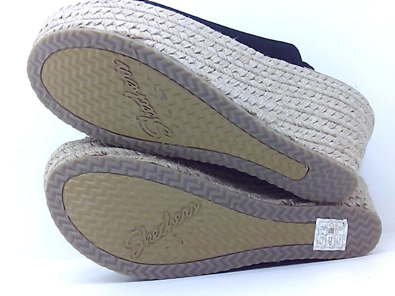 Skechers-Women-039-s-Brit-High-Wedge-Suede-Sling-Back-Sandal-Black-Size-11-0-5mJF thumbnail 9