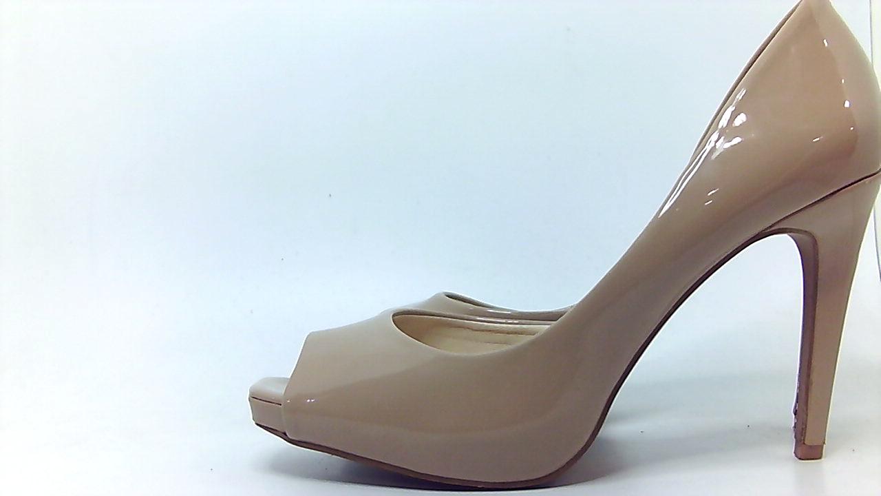 Jessica Simpson Womens JASELLE Peep Toe Dorsay Pumps Nude Size 5.0