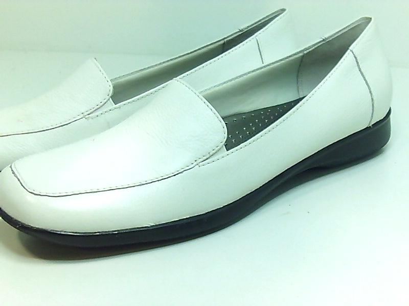 Trotters-Womens-Jenn-Leather-Square-Toe-Loafers-White-Size-9-0-US16-US-7-UK thumbnail 6