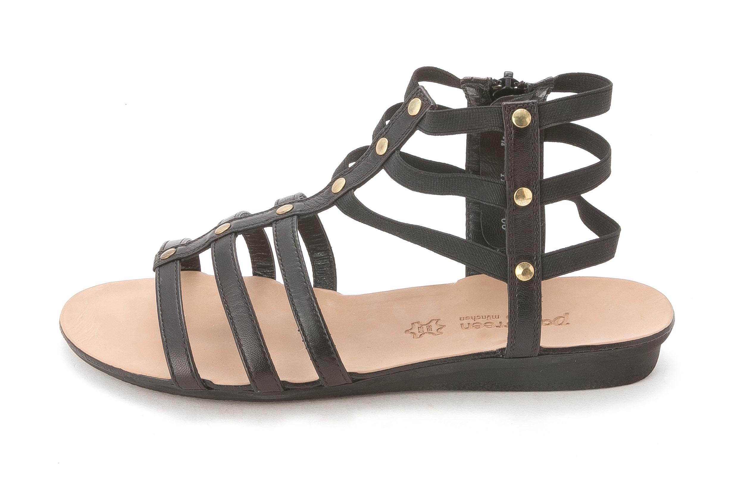Paul Green Womens ARLENE Leather Open Toe Casual Black leather Size 70