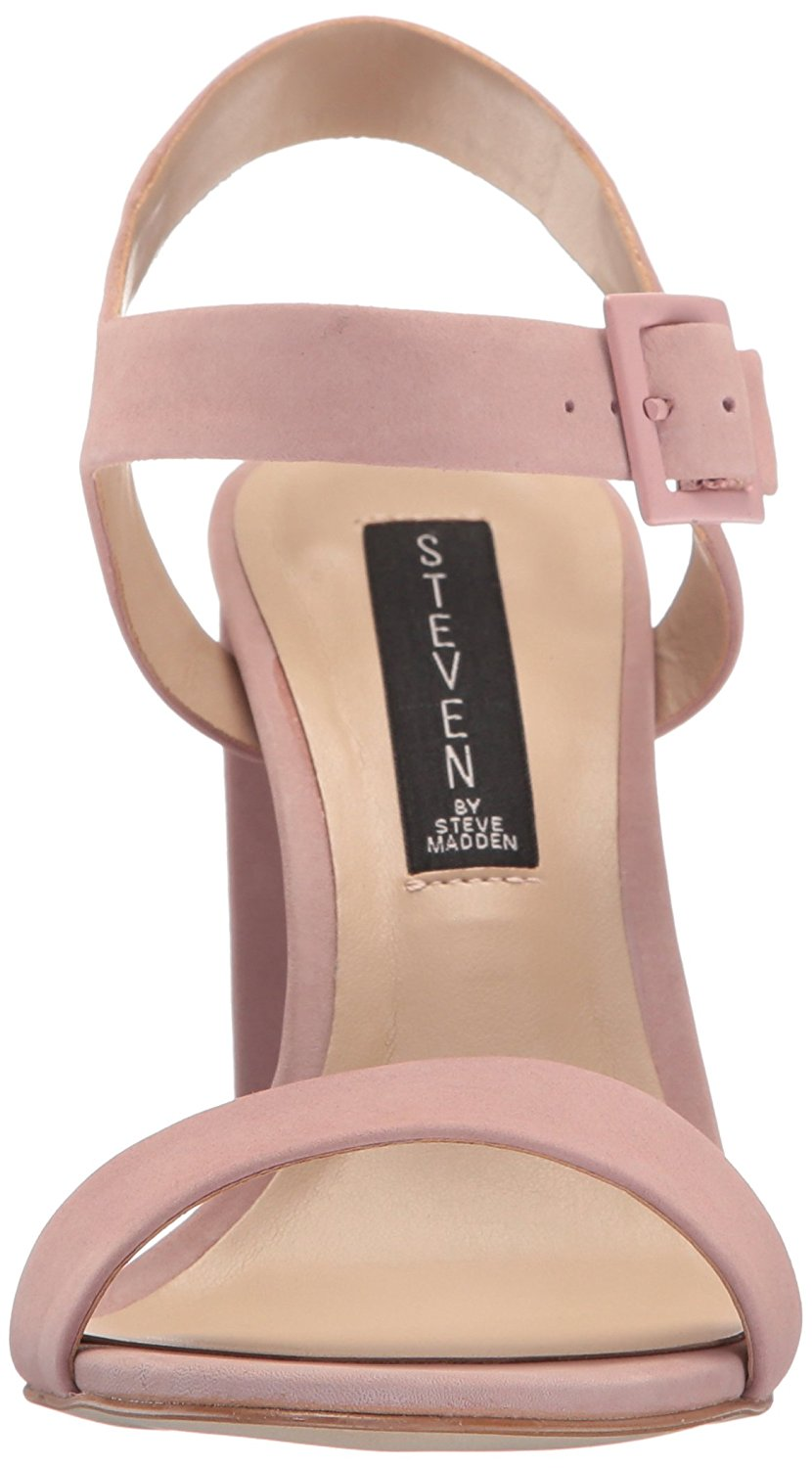 de36e8c439f6 Steven by Steve Madden Eisla Womens Heeled Sandals Pink Nubuck 7.5 US   5.5  UK