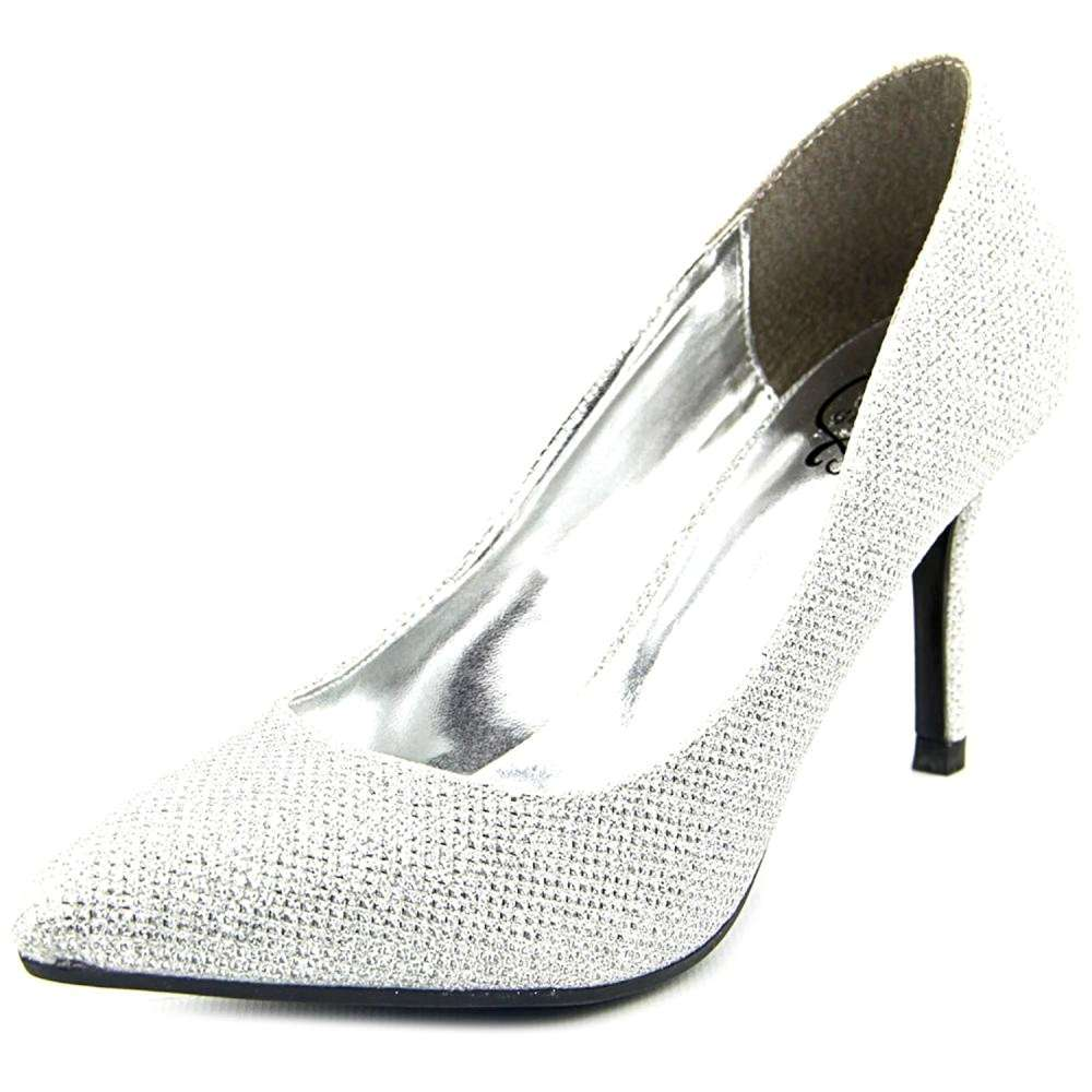 1.4.3. Girl Womens Owanda Pointed Toe Classic Pumps Silver Glitter Size 7.5