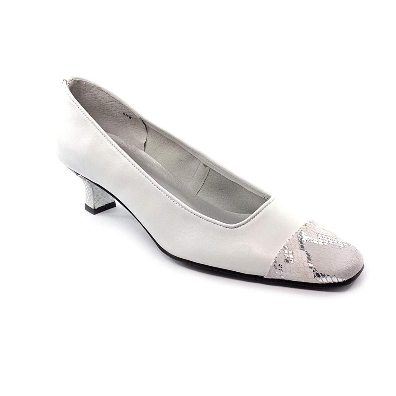 Vaneli Vaneli Vaneli Damenschuhe Rickie Leder Cap Toe Classic, Weiß Nappa/Pr/Silver, Größe 8.5 ff689f