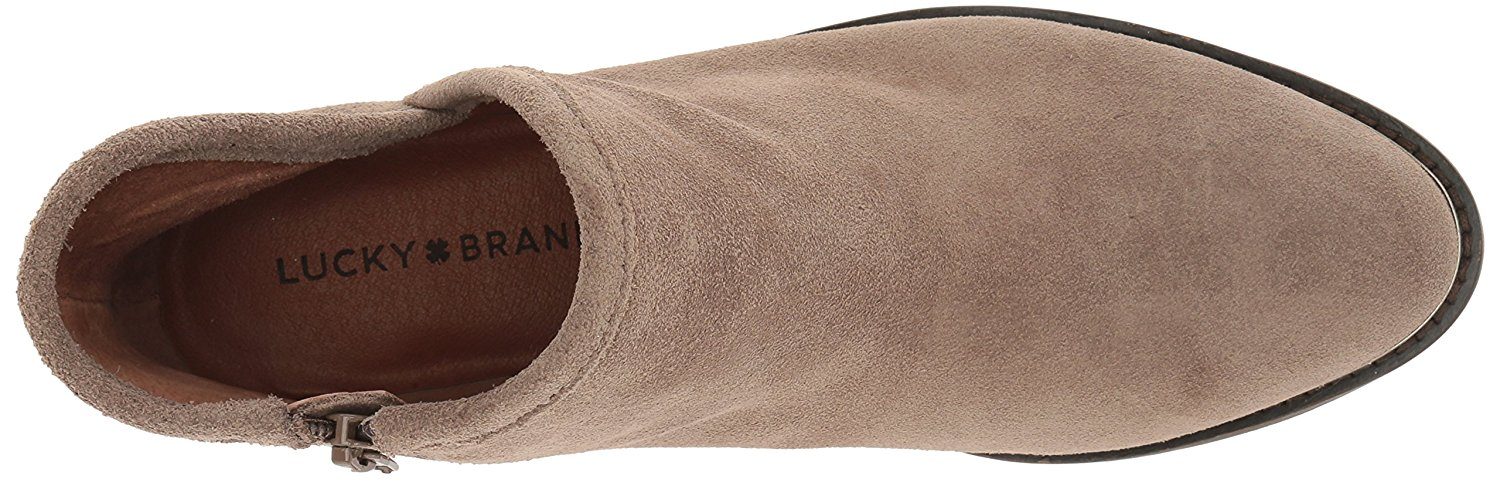 Lucky Brand Womens Lk-Keezan NuBuck Round Toe 8.0 Ankle Fashion, Brindle, Size 8.0 Toe l 75e36a