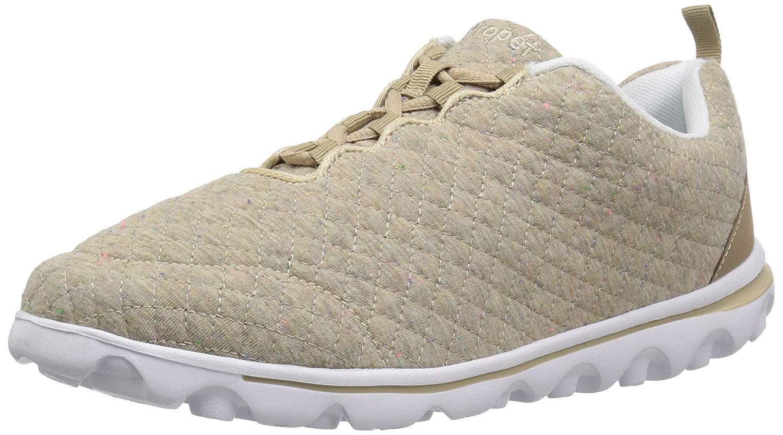 251c53ff3ef6 Details about Propét Womens TravelActiv Woven Low Top Lace Up Walking Shoes