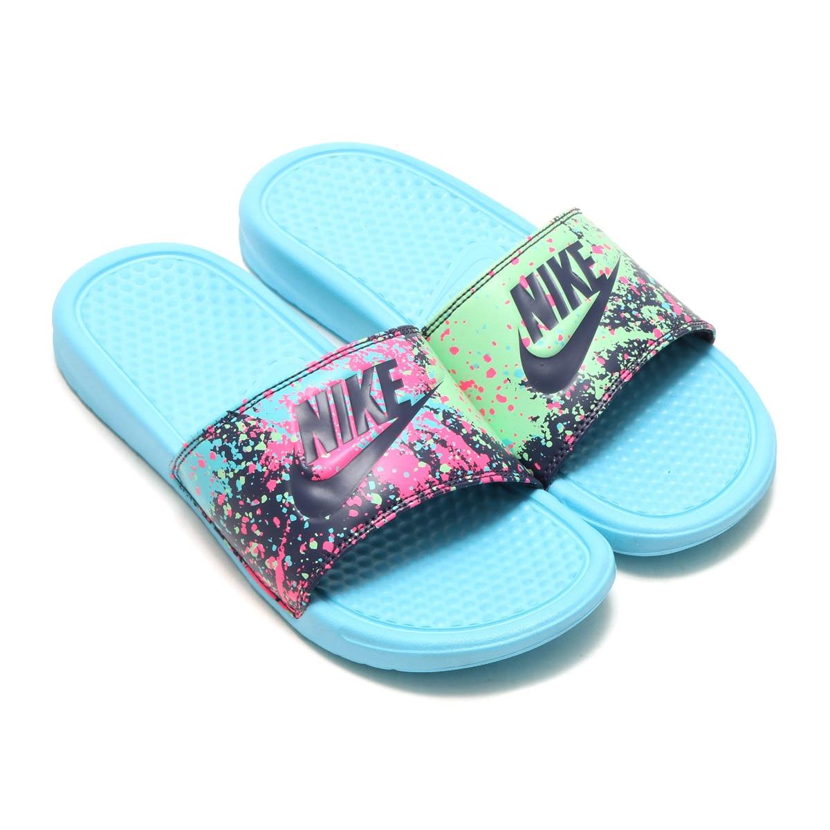 6fb2b4d3d458cc Nike Womens Benassi JDI Print Open Toe Casual Slide Sandals