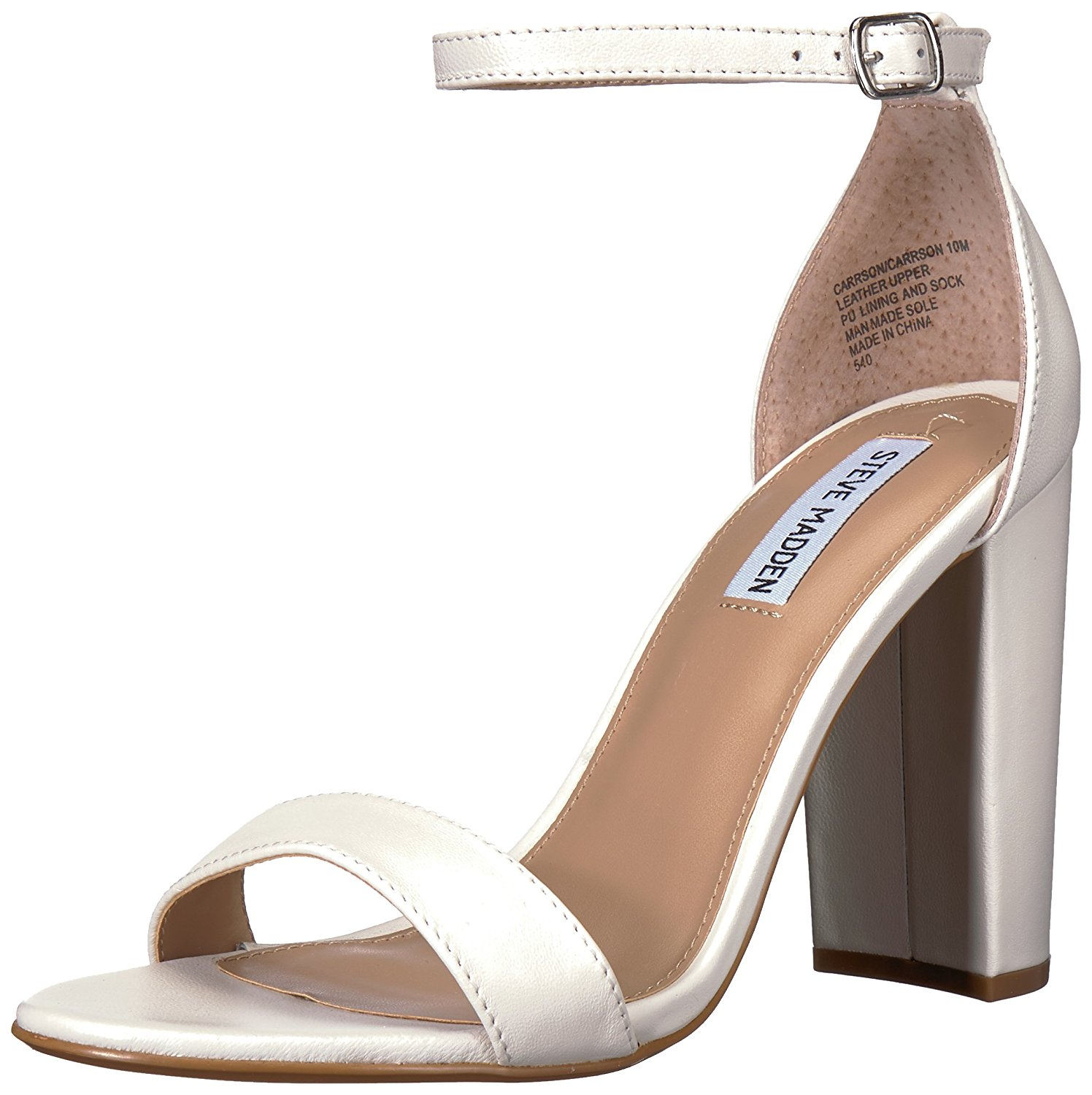 410c5fe97f04 Steve Madden Womens Carrson Leather Open Toe Special Occasion Ankle Strap  San.