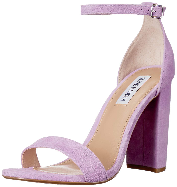bbbfacc6000 Steve Madden Carrson Womens Heeled Sandals Lavender Suede 6 US   4 ...