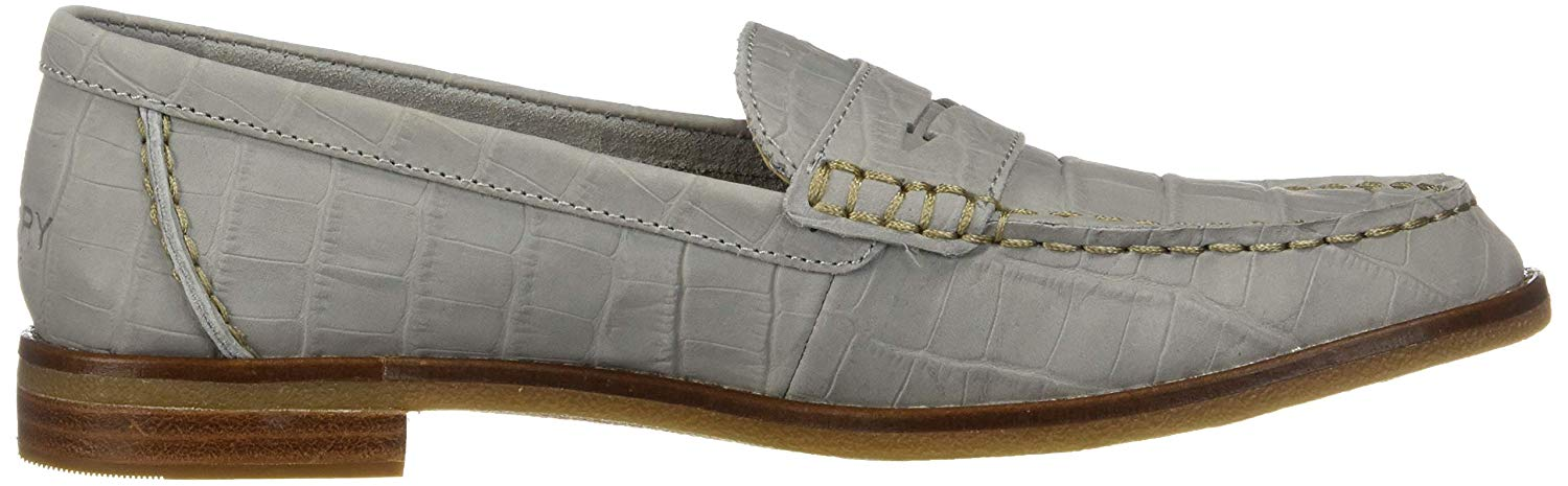 Sperry Top-Sider Seaport Croc Nubuck Penny Loafer Women's ...
