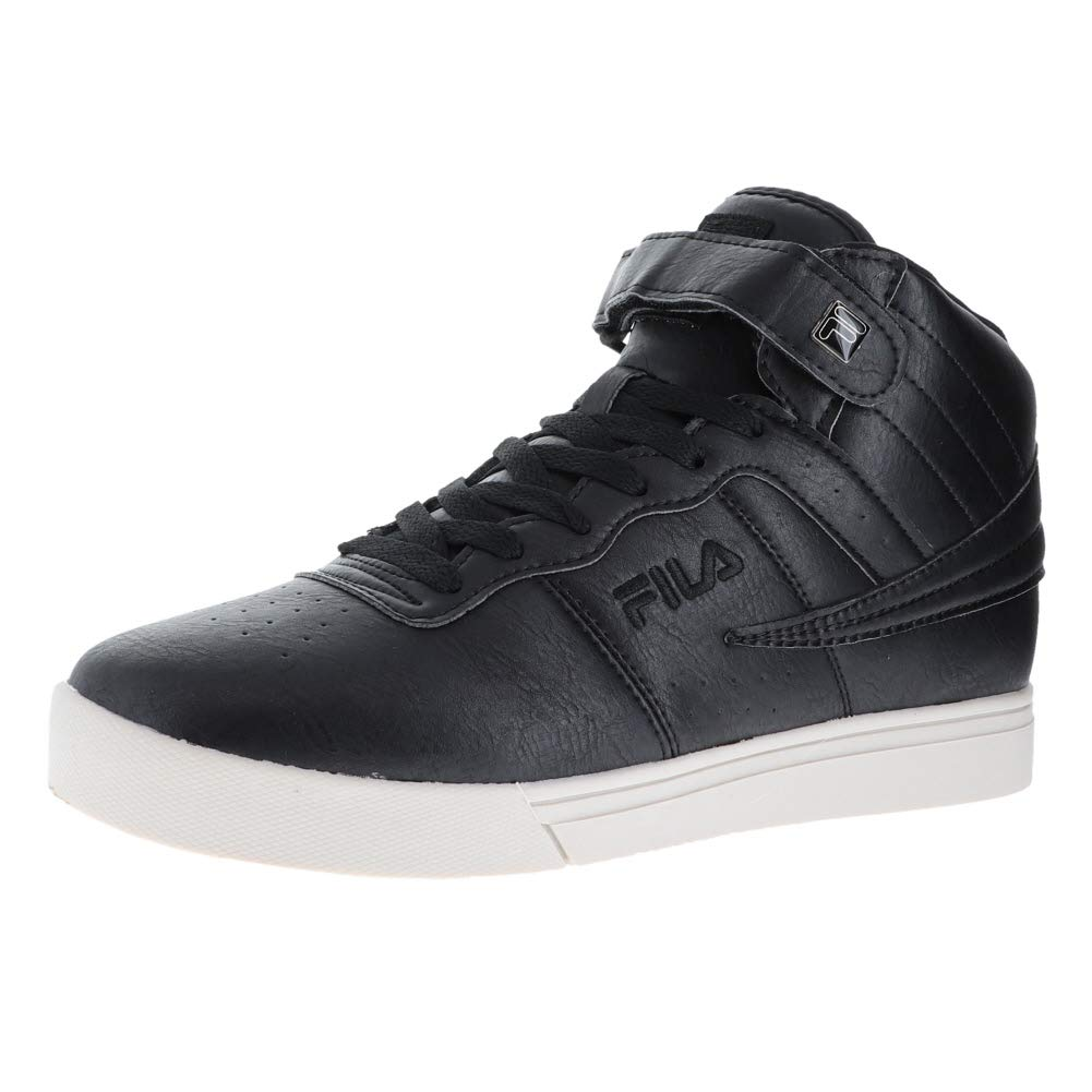 358dc96c765 Fila Mens F-13 Distressed Leather Hight Top Lace Up Running Sneaker ...