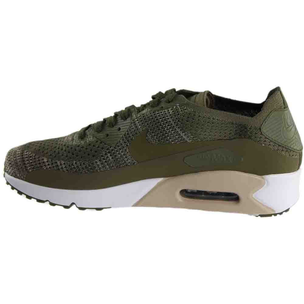 1a7ca380783f Nike Mens Air Max 90 Ultra 2.0 Flyknit Low Top Lace Up Running Sneaker