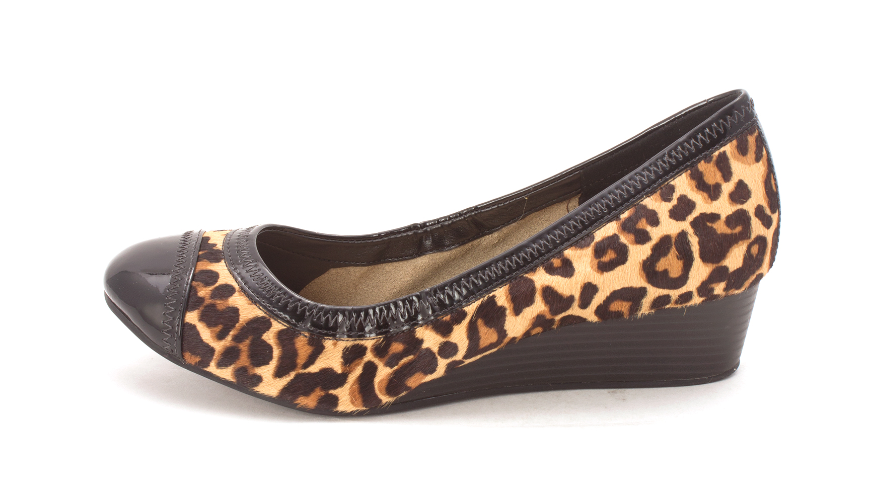 Cole Pumps Haan Womens Rupertasam Cap Toe Wedge Pumps Cole Leopard Print Size 6.0 f4e23d