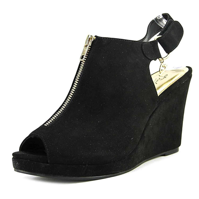 Thalia Sodi Womens Telma Peep Toe SlingBack Mules Black Size 9.5