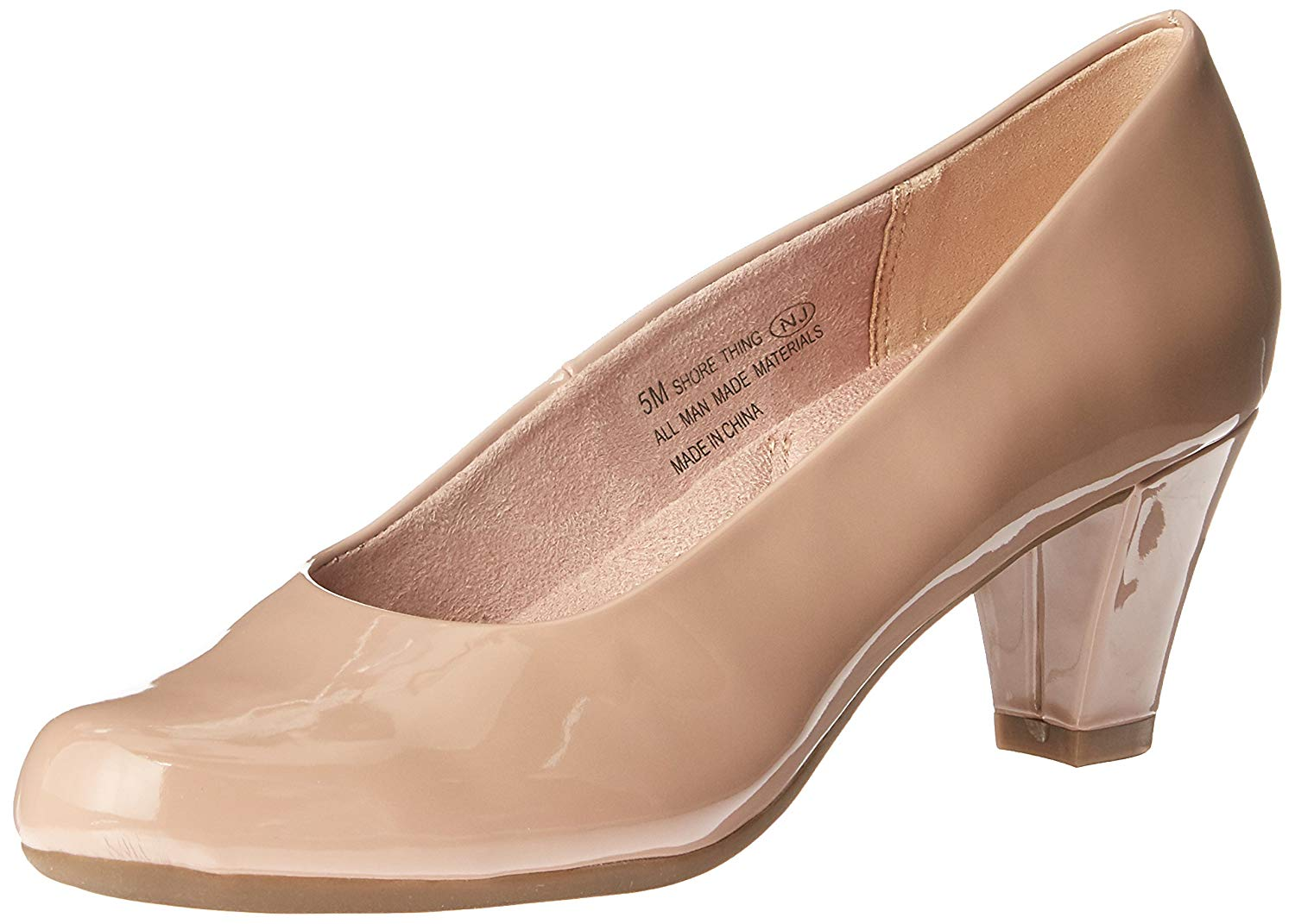 Details about Aerosoles Womens Shore Thing Closed Toe Classic Pumps, Nude Patent, Size 6.5 t8y