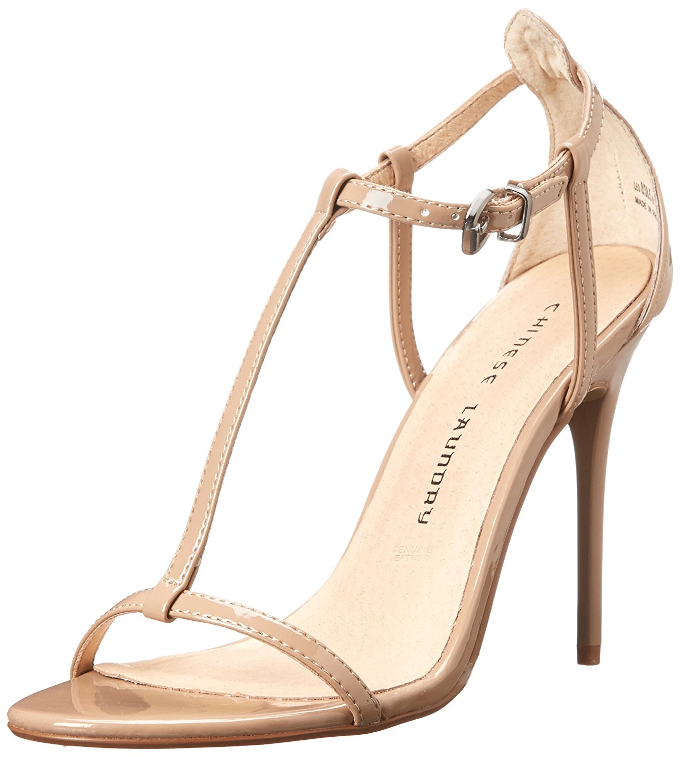Chinese Laundry Womens Leo Open Toe Ankle Strap Classic Pumps Nude Size 8.5 Od