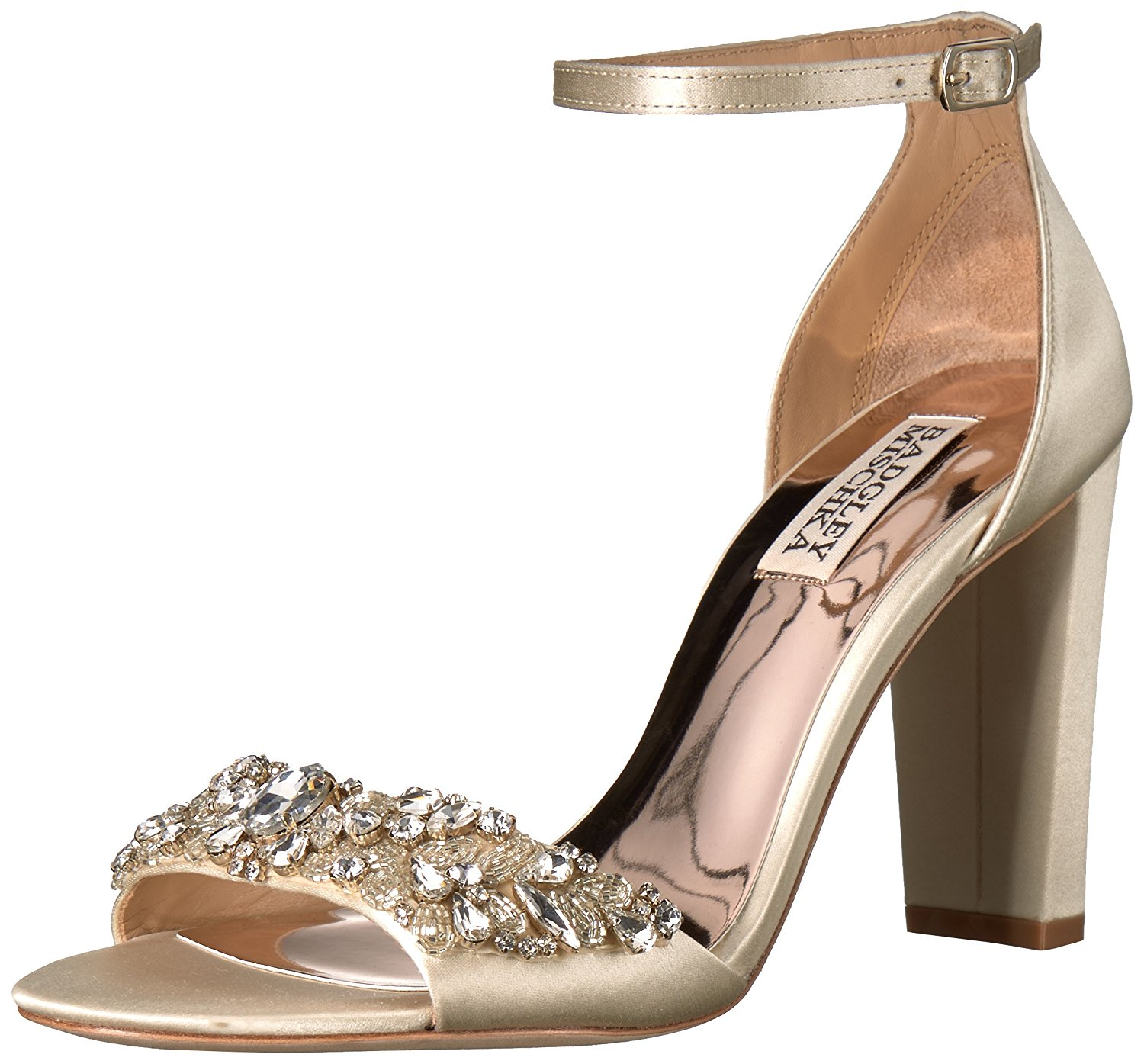 4d1168ef8d15 BADGLEY MISCHKA Womens Barby Leather Open Toe Special Occasion Ankle Strap  Sa.