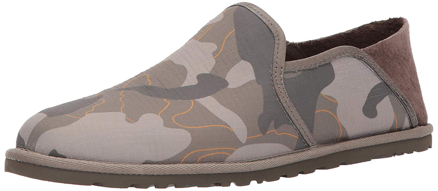 62cdef7d5a721 Ugg Australia Mens Cooke Canvas Leather Round Toe Penny, Brindle, Size 13.0